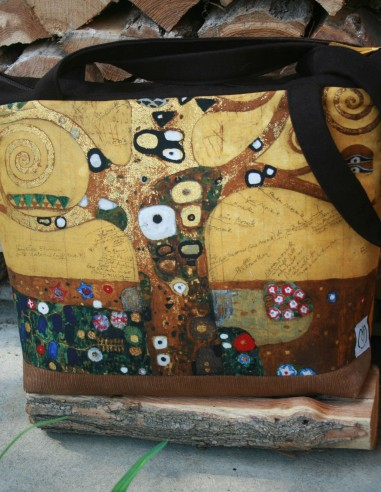 Klimt Életfa mintás újrahasznosított...